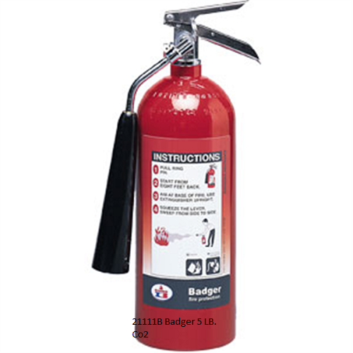 5 LB. Carbon Dioxide (CO2)  Fire Extinguishers