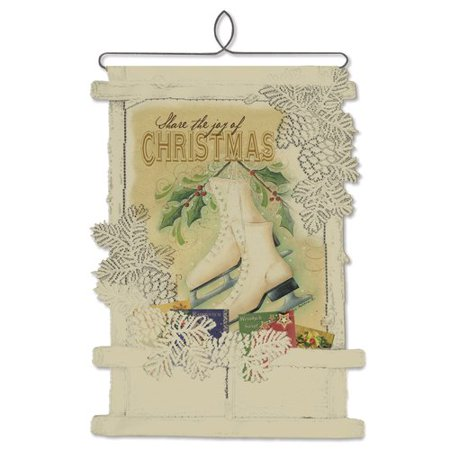 Heritage lace joy of christmas card holder wall decor for How to make christmas card holders wall