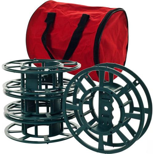 extension cord or christmas light reels with bag set of 4. Black Bedroom Furniture Sets. Home Design Ideas