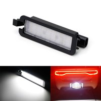 iJDMTOY (1) Exact Fit 3x Brighter 18-SMD Xenon White LED License Plate Light Assembly For 2015-up Dodge Charger, Challenger, Chrysler 300, Pacifica