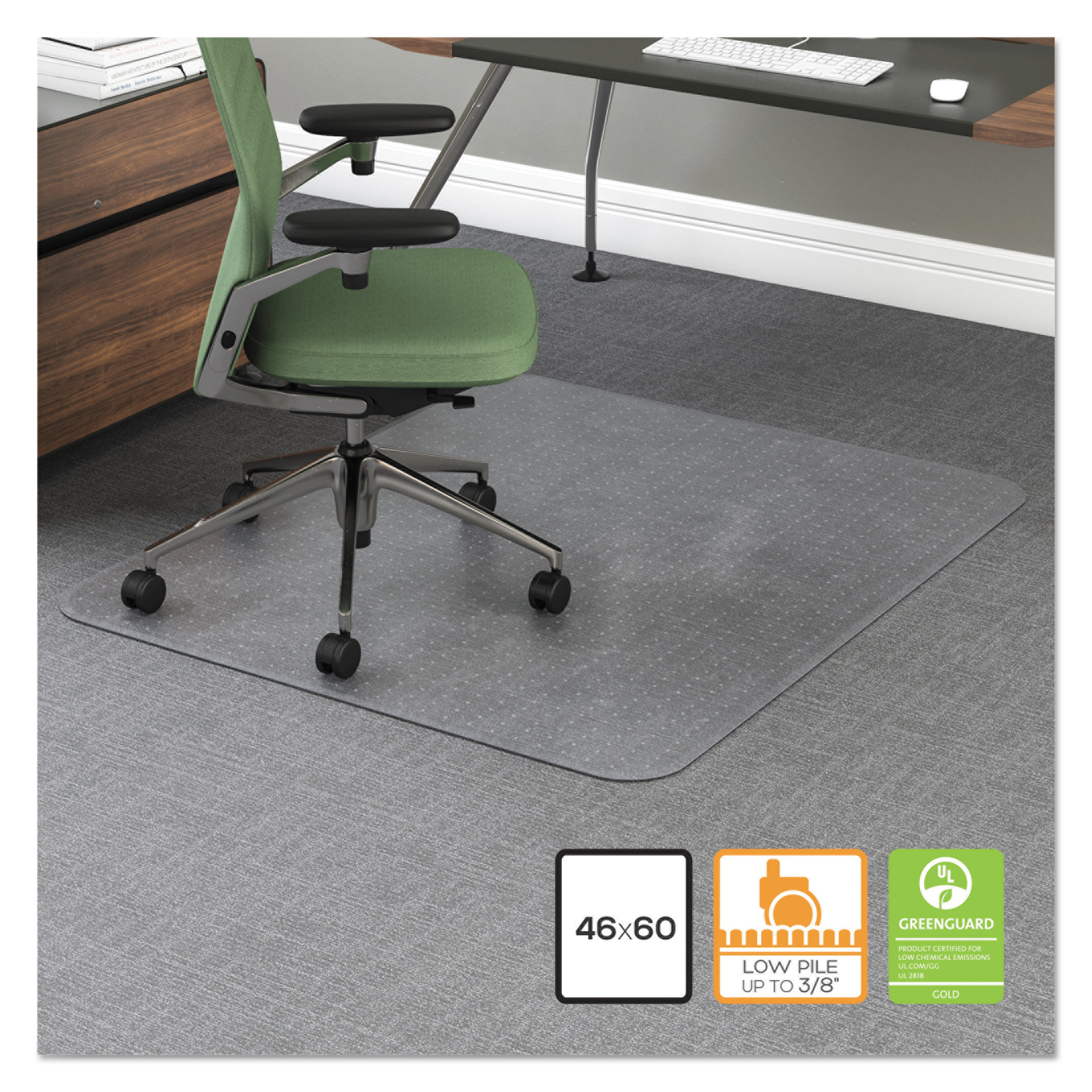 office impression 46 x 60 chair mat for hard floor rectangular