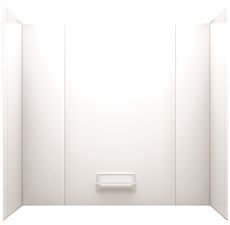 SWAN HIGH GLOSS TUB WALL KIT, 29 IN. X 62 IN. X 58 IN., W...