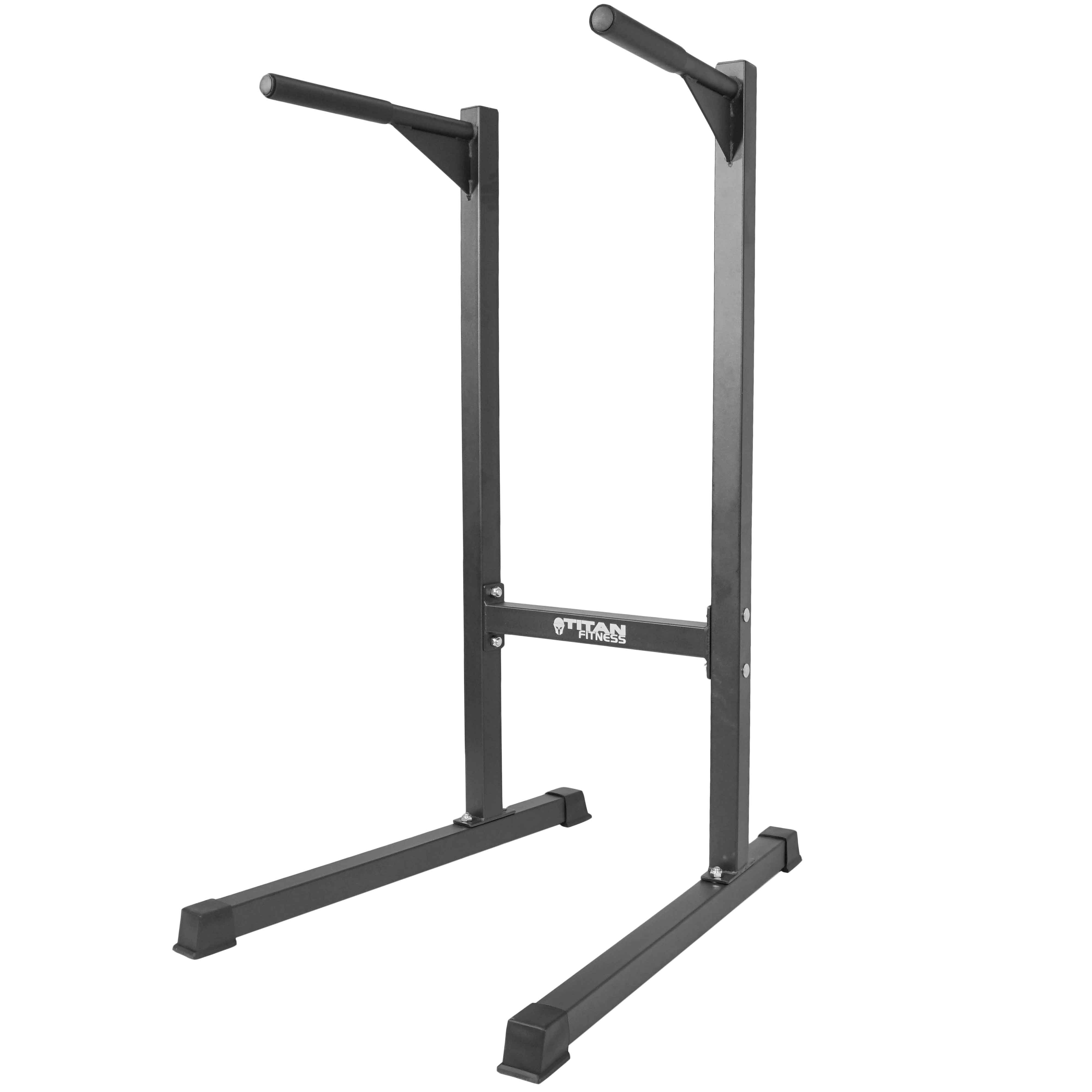 Titan Heavy Duty Dip Stand Freestand Pull Push Up Bar Fit...