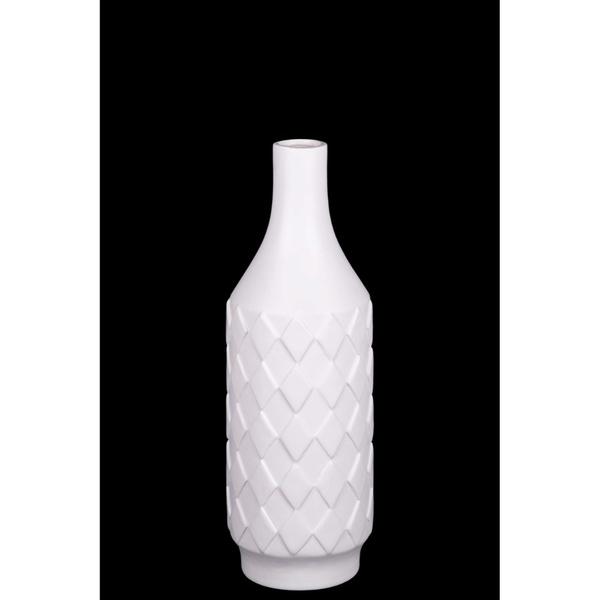 ZRZJBX Vase en Marbre Blanc,Vase en C/éRamique Blanche Unique,Vase en C/éRamique Carr/é Blanc,D/éCoration en Porcelaine Cr/éAtifs Cadeaux Mariage de,White-S