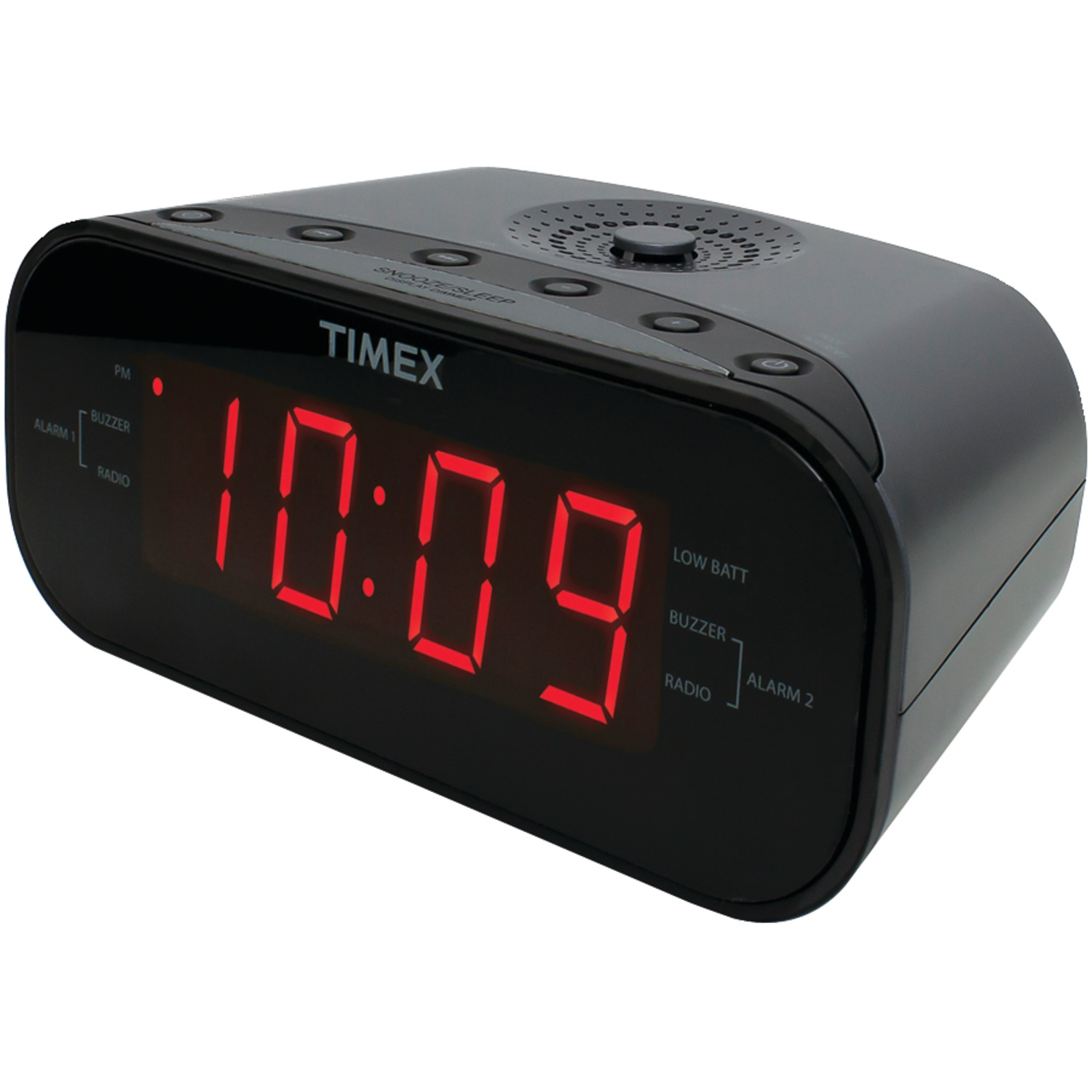 Timex Audio T231GRY2 AM/FM Dual Alarm Clock Radio With Digital Tuning (Gunmetal Gray) & UPG AAA 50 Pack