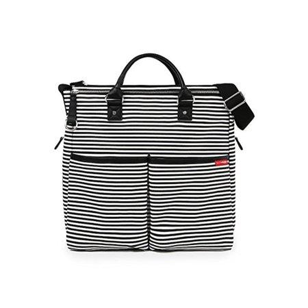 - Skip Hop Duo Special Edition Diaper Bag - Black & White Stripe