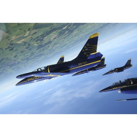 Flying with the Aero L-39 Albatros of the Breitling Jet Team Canvas Art - Daniel KarlssonStocktrek Images (18 x 12) Flying with the Aero L-39 Albatros of the Breitling Jet Team. was reproduced on the finest Canvas which captures all of the vivid colors and details of the original art. This museum quality Canvas Art was faithfully reproduced using ultra-precision print technology and fade-resistant archival inks on artist premium acid-free grade canvas. The overall size is 18 x 12 inches plus an additonal 1.5 inches of extra canvas on all 4 sides to allow for easy stretching and/or framing. This premium rolled Canvas Art is ready for stretcher bars or custom framing. Brand New and Rolled and ready to stretch or frameCanvas Art Title: Flying with the Aero L-39 Albatros of the Breitling Jet Team. Canvas Size: 17.40 x 11.60 inches plus an additional 1.5 inches of extra canvas on all 4 sides to allow for easy stretching and/or framingLicensor: StockTrek ImagesArtist: Daniel Karlsson/Stocktrek Images