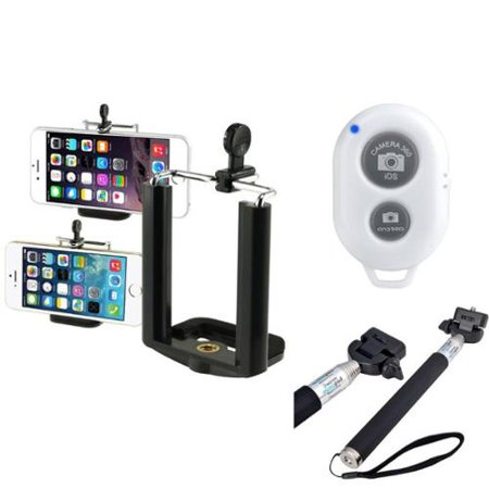 insten monopod extendable selfie stick with white bluetooth remote shutter for iphone 7 7 6s 6. Black Bedroom Furniture Sets. Home Design Ideas