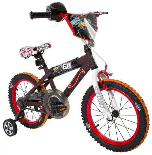 Hot Wheels Boy's 16-Inch Bike, Black/Red/Orange