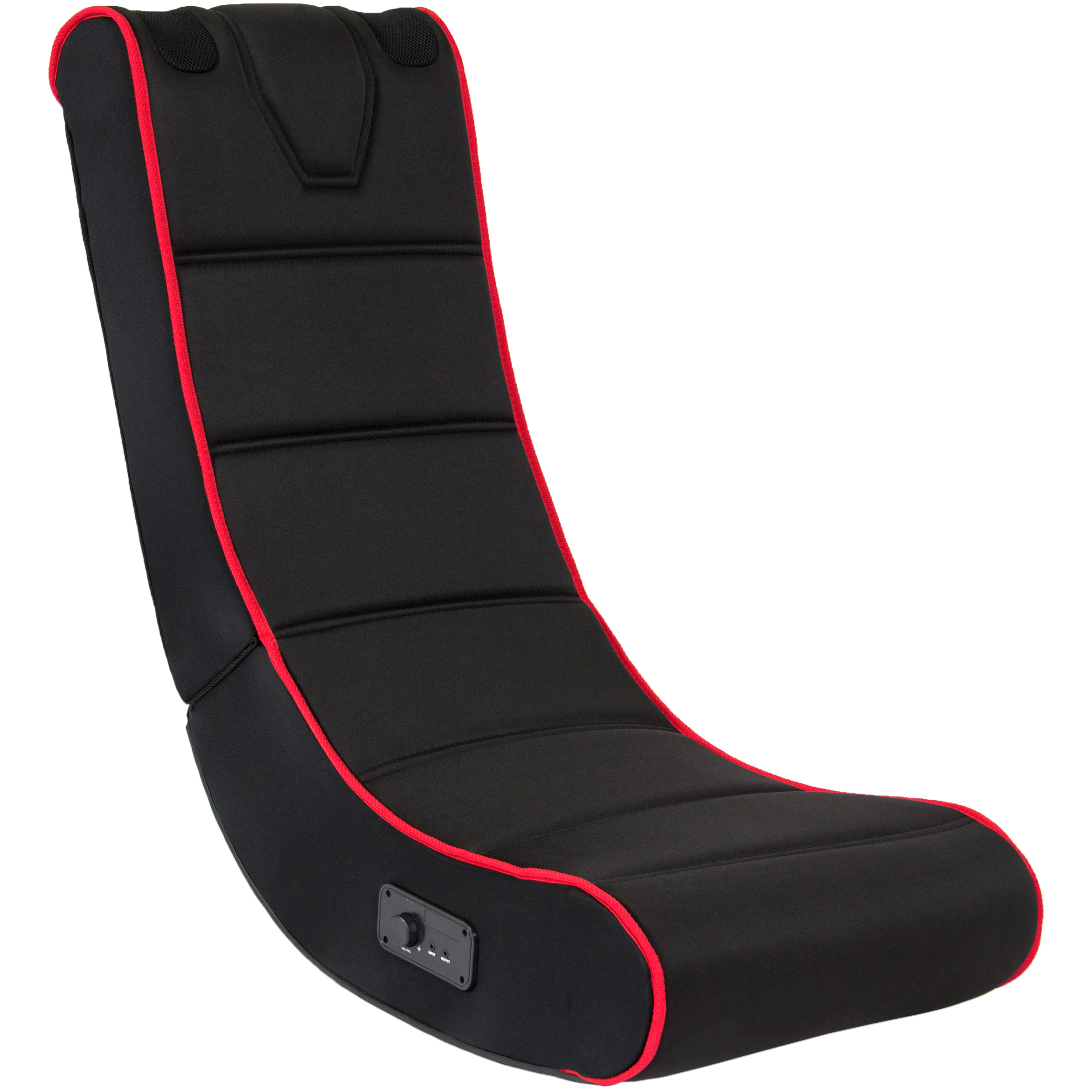 Best Choice Products Foldable Floor Gaming Chair w/ Audio Speakers System (Black/Red)