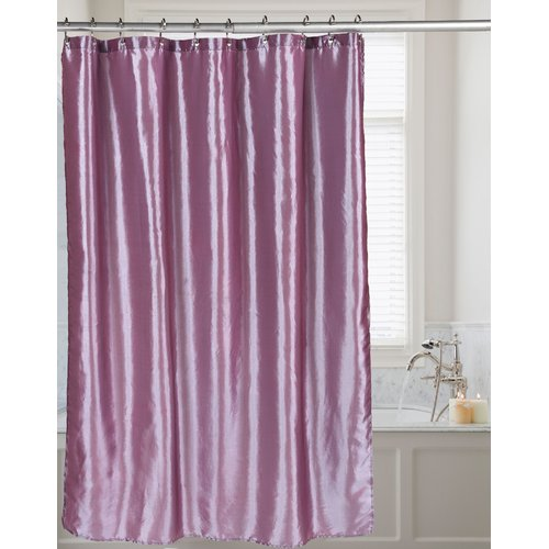 """Shimmer"" Faux Silk Shower Curtain in Purple"