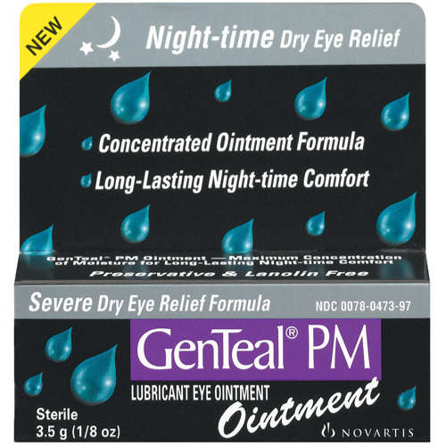 Genteal(R) Pm Ointment Severe Dry Eye Relief Formula Lubricant Eye Ointment 3.5 G
