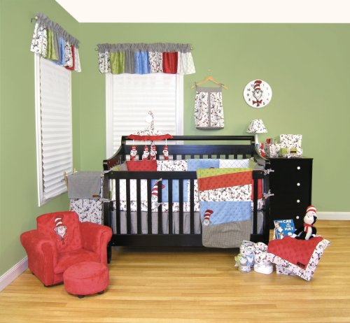 Dr. Seuss Cat In The Hat Three Piece Crib Bedding Set