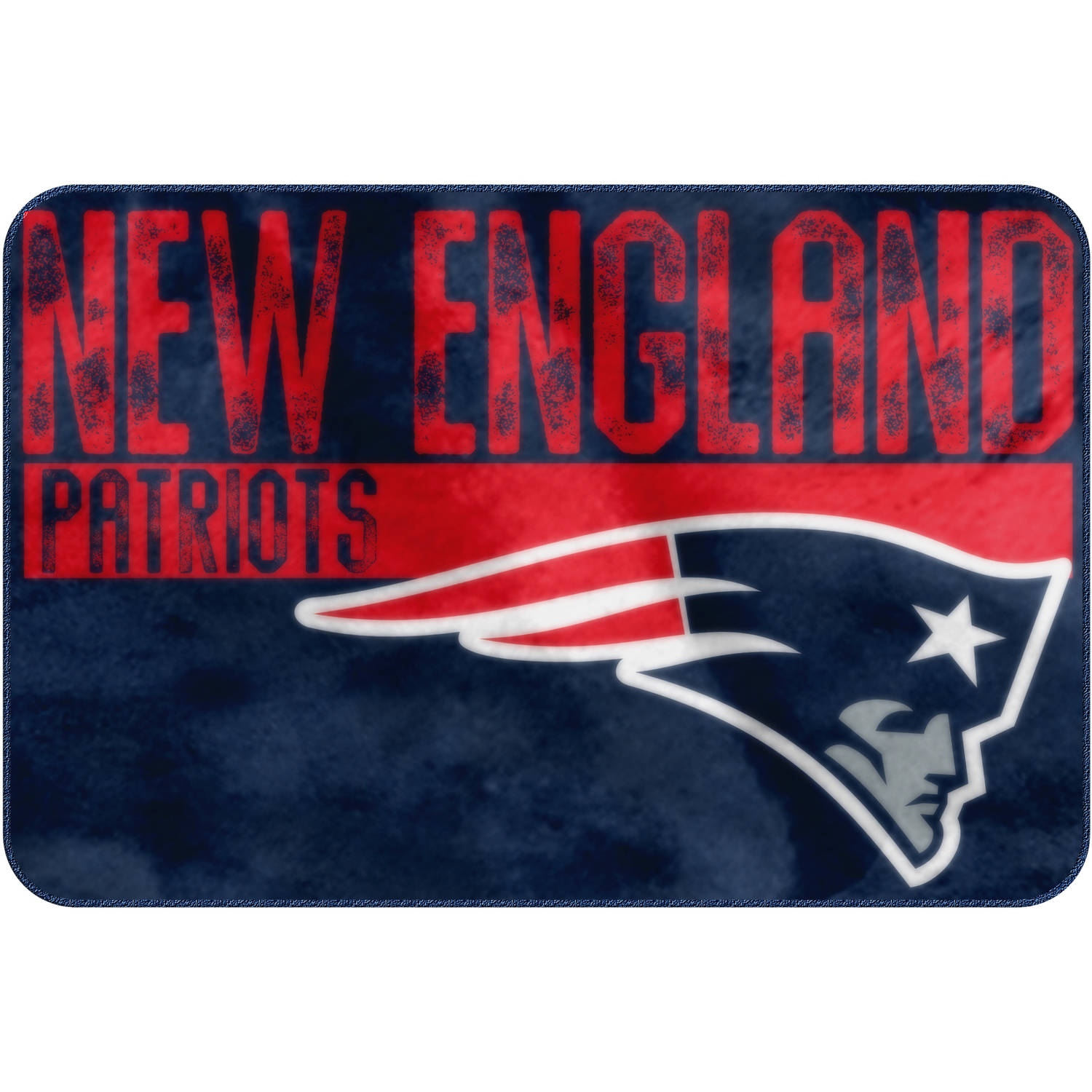 "NFL New England Patriots ""Worn Out"" Mat, 20"" x 30"""