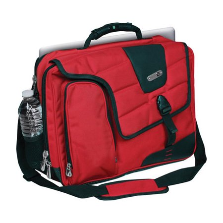 FUL Commotion Messenger Bag for 17in Laptops, Red