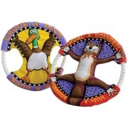 Fat Cat Dog Toy Rings Hurl A Squirrel