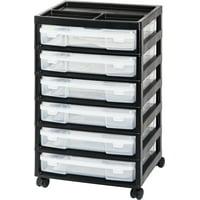 IRIS USA, 6-Case Scrapbook Storage Cart, White