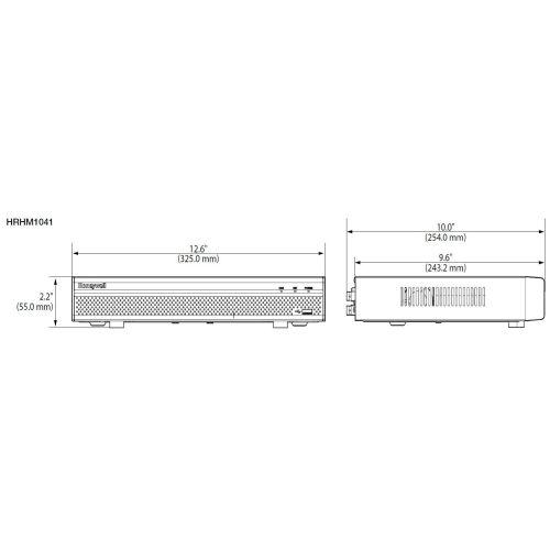 Honeywell Video Performance Series HRHM1041 4CH EMBEDDED ...