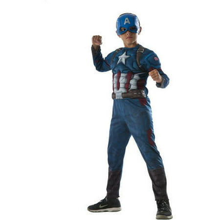 """Avengers """"Captain America"""" Child Muscle Chest Halloween Costume"""