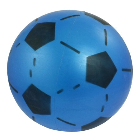 Blue Black 6.6  Dia Inflatable Soft Plastic Football Toy