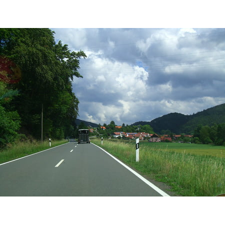 LAMINATED POSTER Village Germany Clouds Road Motorway Countryside Poster Print 24 x - St Cloud Village