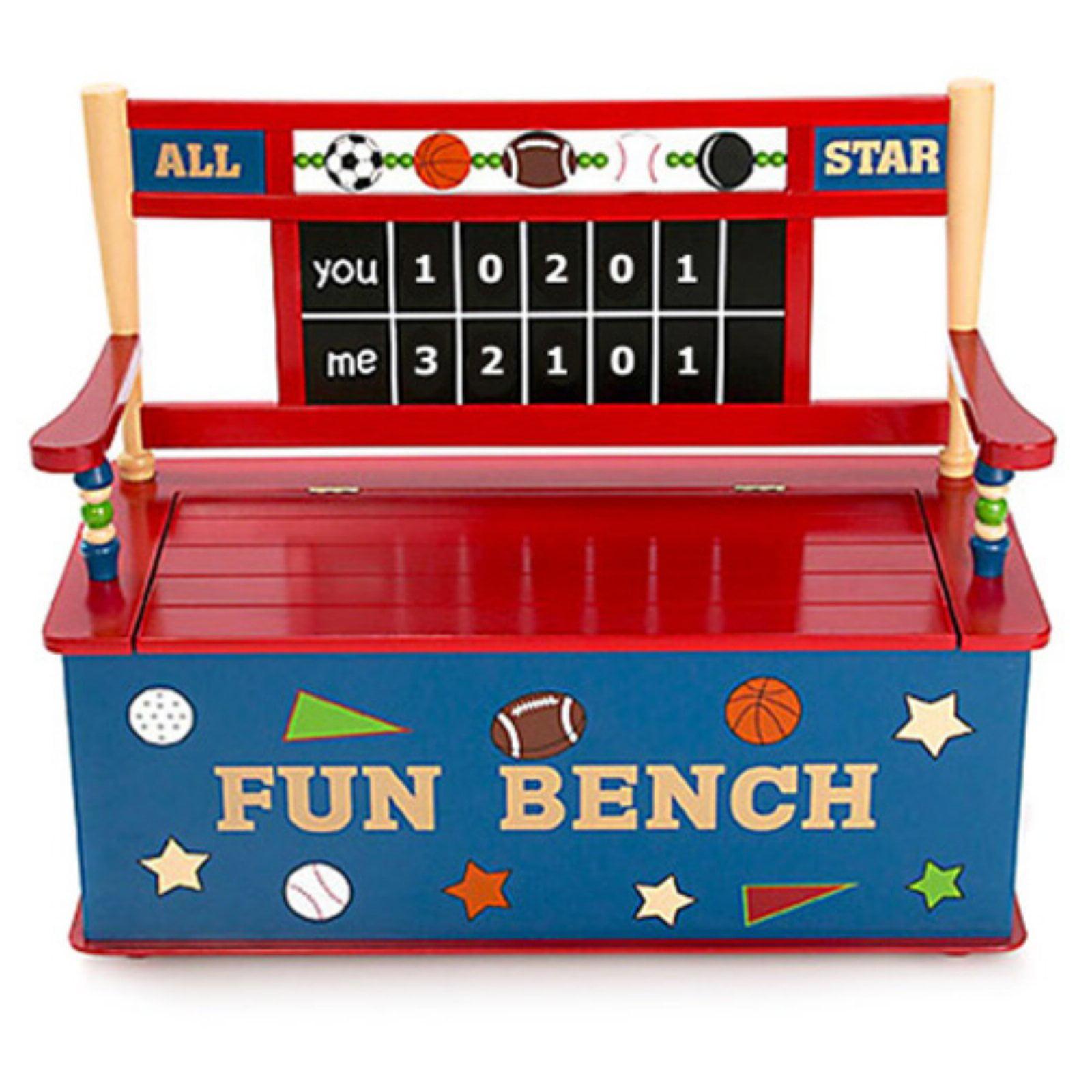 Wildkin All Star Sports Toy Box Bench by LTD Online