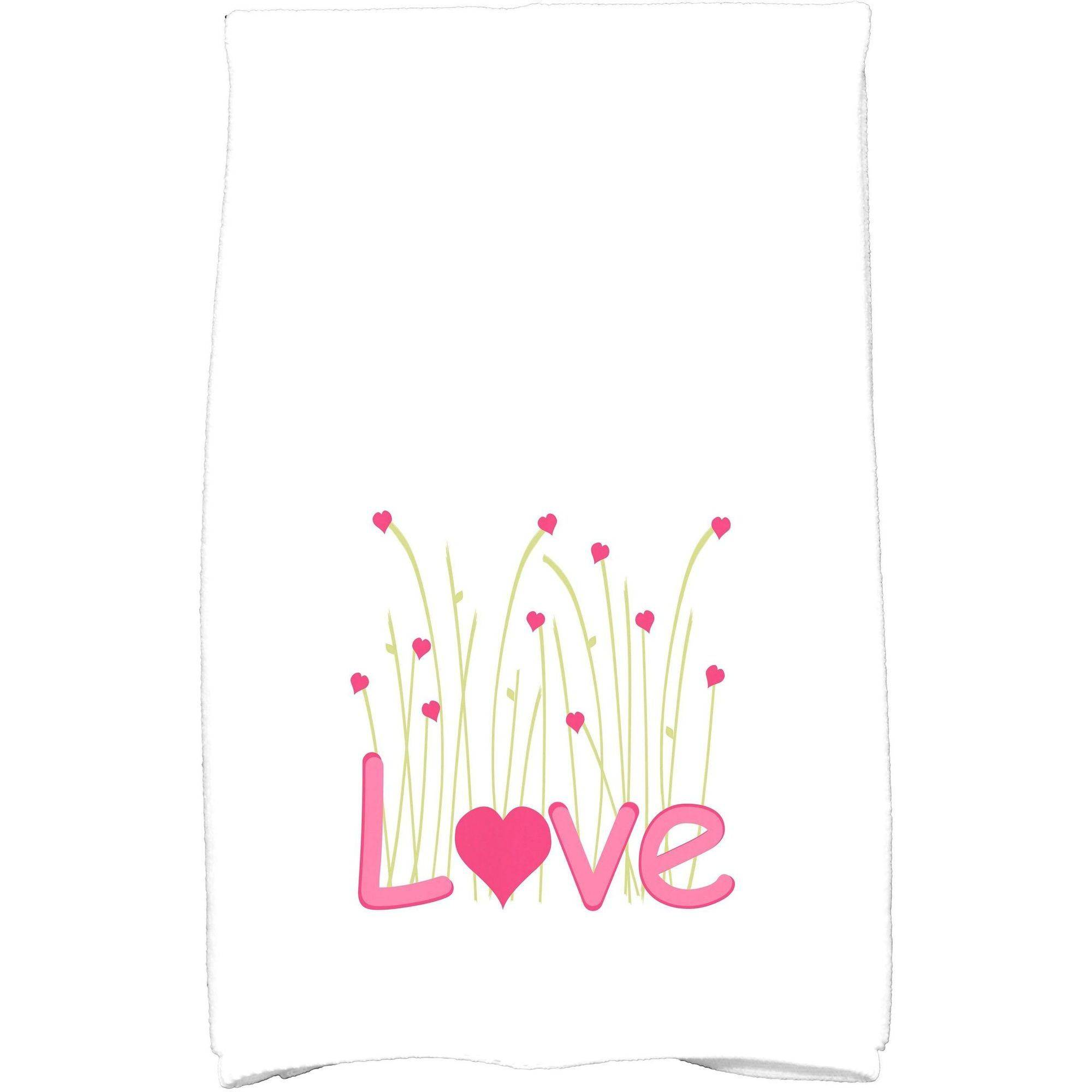 "Simply Daisy 16"" x 25"" Valentine Print Kitchen Towel by E By Design"