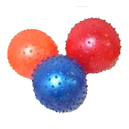 6 Pieces of the Brand New 3 Inch Inflatable Knobby Balls Assorted Colors, 3 Inch Knobby Ball By Novelties Company (Novelty Companies)