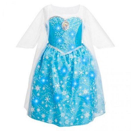 Disney Frozen Elsa Musical Light Up Dress (Size 7/8) - Disney Character Dress Up