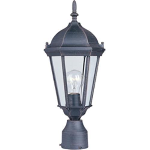 Maxim Lighting 1001RP Westlake Cast 19'' H 1-Light Outdoor Pole/Post Lantern - Rust Patina