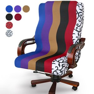 Bestller Office Swivel Computer Chair Seat Cover Side Zipper Design Arm Chair Protector Cover Recouvre Chaise Stretch Rotating Lift Chair Cover Seat Decoration ()