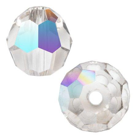 - Swarovski Crystal, #5000 Round Beads 3mm, 20 Pieces, Crystal AB