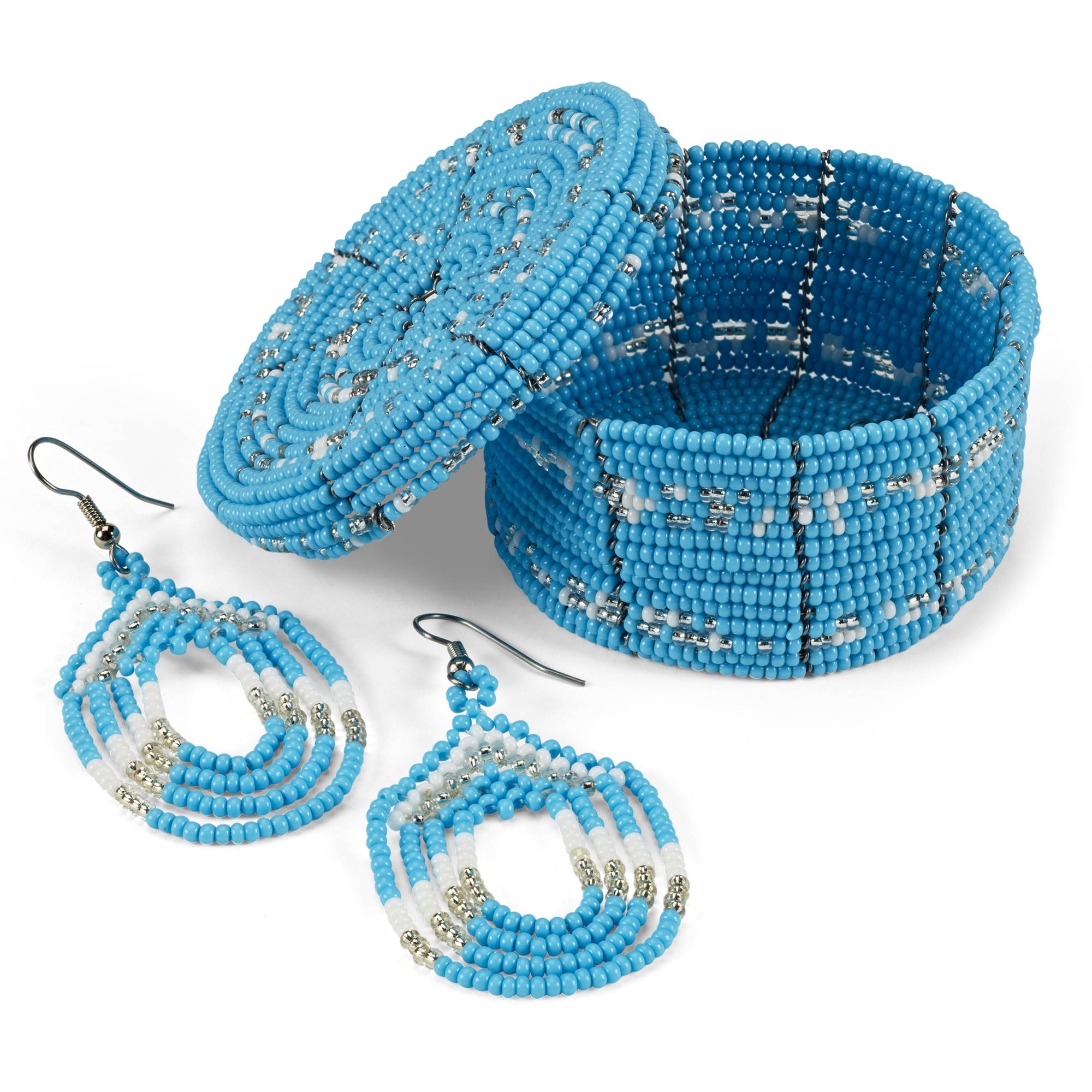 2-Piece Seed Bead Earrings and Box Set by MWEDO for Global Goods Partners