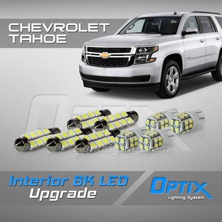 Chevrolet Tahoe Interior (Optix 9pc 2007+ Chevrolet Tahoe LED Interior Light Package Replacement Set - White)
