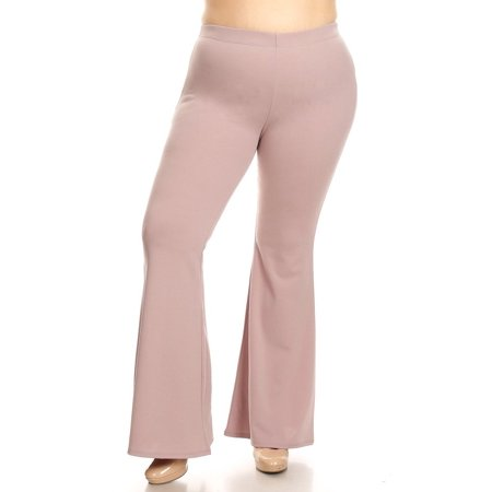 8f757b1938b MOA Collection - Women s PLUS Size Trendy Style High Waist Wide Legs Solid  Pants - Walmart.com