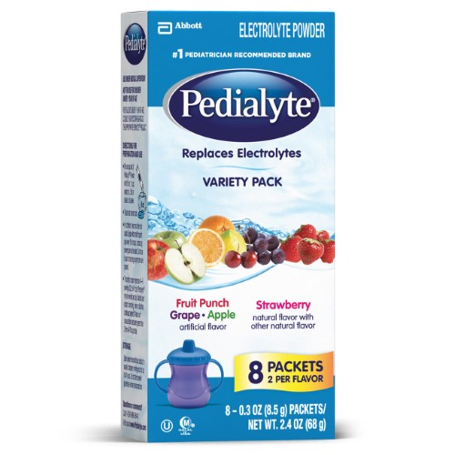 Pedialyte Electrolyte Drink Powder (Pack of 12)