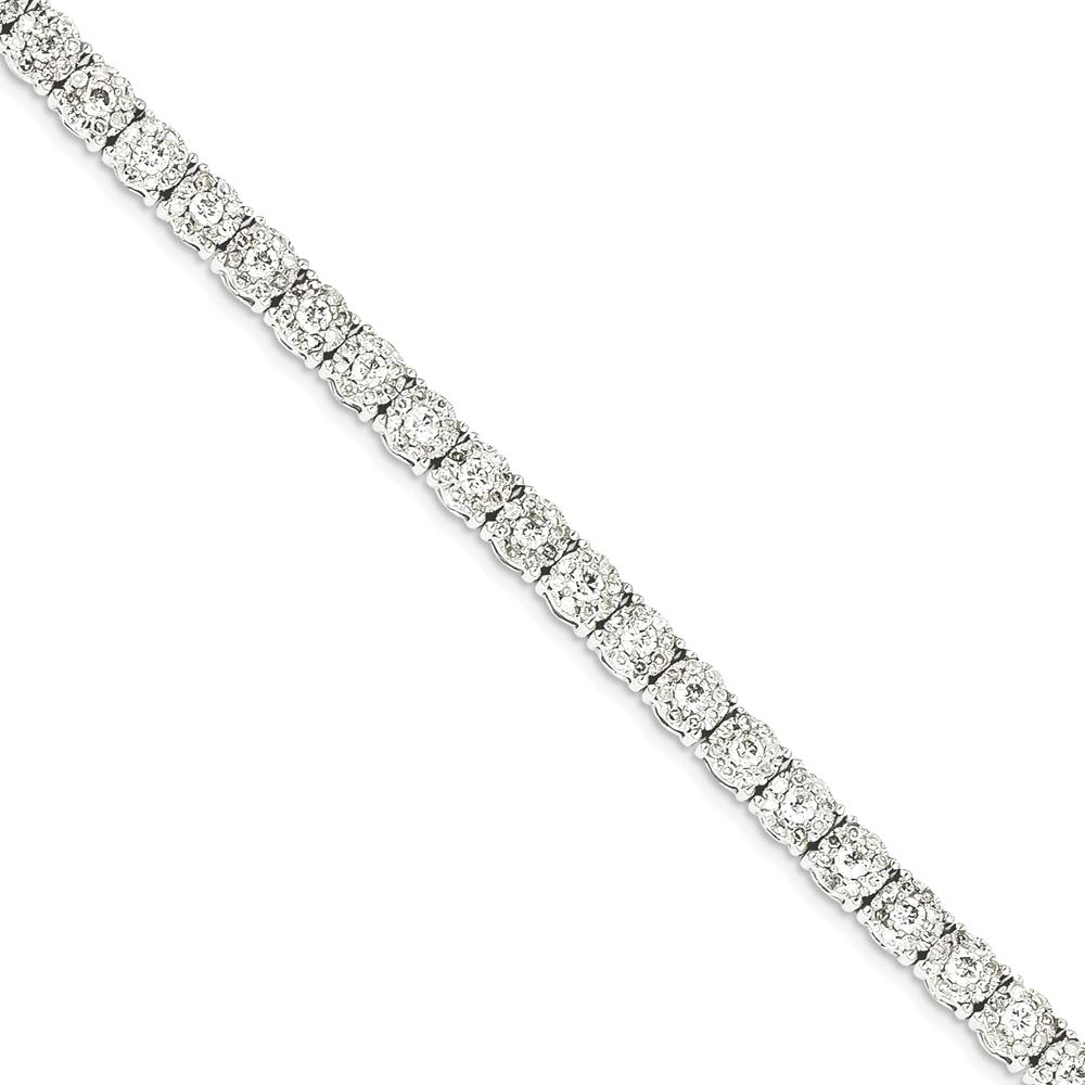 ICE CARATS 14kt White Gold Illusion Setting Diamond Bracelet 7 Inch Fancy Fine Jewelry Ideal Gifts For Women Gift Set From Heart