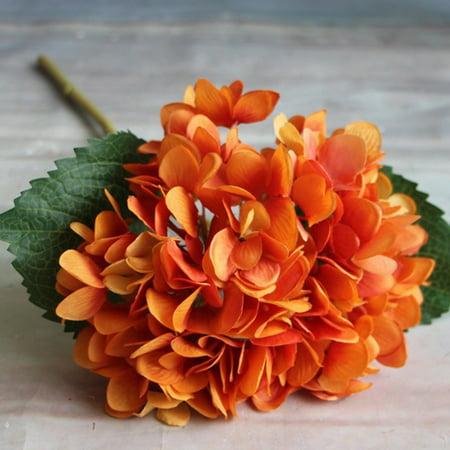 Silk Artificial Hydrangea Flower Bouquet Arrangement Home Wedding Christmas Decoration ()