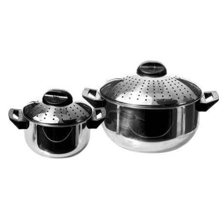 Imperial Home 4 Piece Stainless Steel Locking Lid Pasta Cooker Set