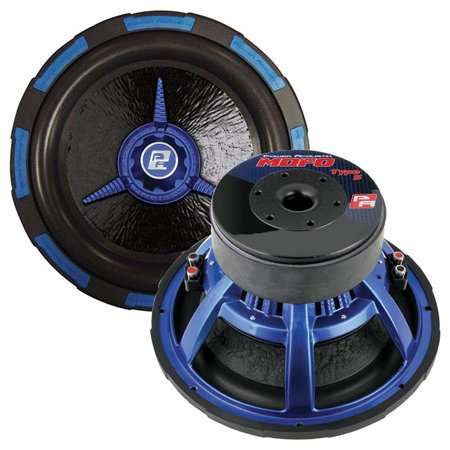Power Acoustik Woofer - Power Acoustik 10 Inch Woofer Dual 4 Ohm 2200w Max Audio Woofers  - Black