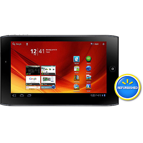"""Acer Refurbished Iconia Tab A Series with WiFi 7"""" Touchscreen Tablet PC Featuring Android 3.0 (Honeycomb) Operating System, Blue"""