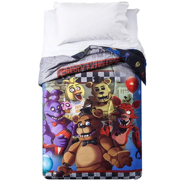 five nights at freddy's reversible microfiber twin bed