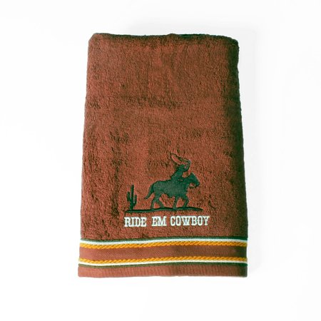 Mainstays Rodeo Time Embroidered Cotton Terry Bath Towel, 1