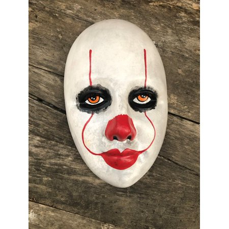 OOAK Pennywise IT Clown Creepy Horror Wall Mask Art by Christie Creepydolls (Crypt Creature Mask)