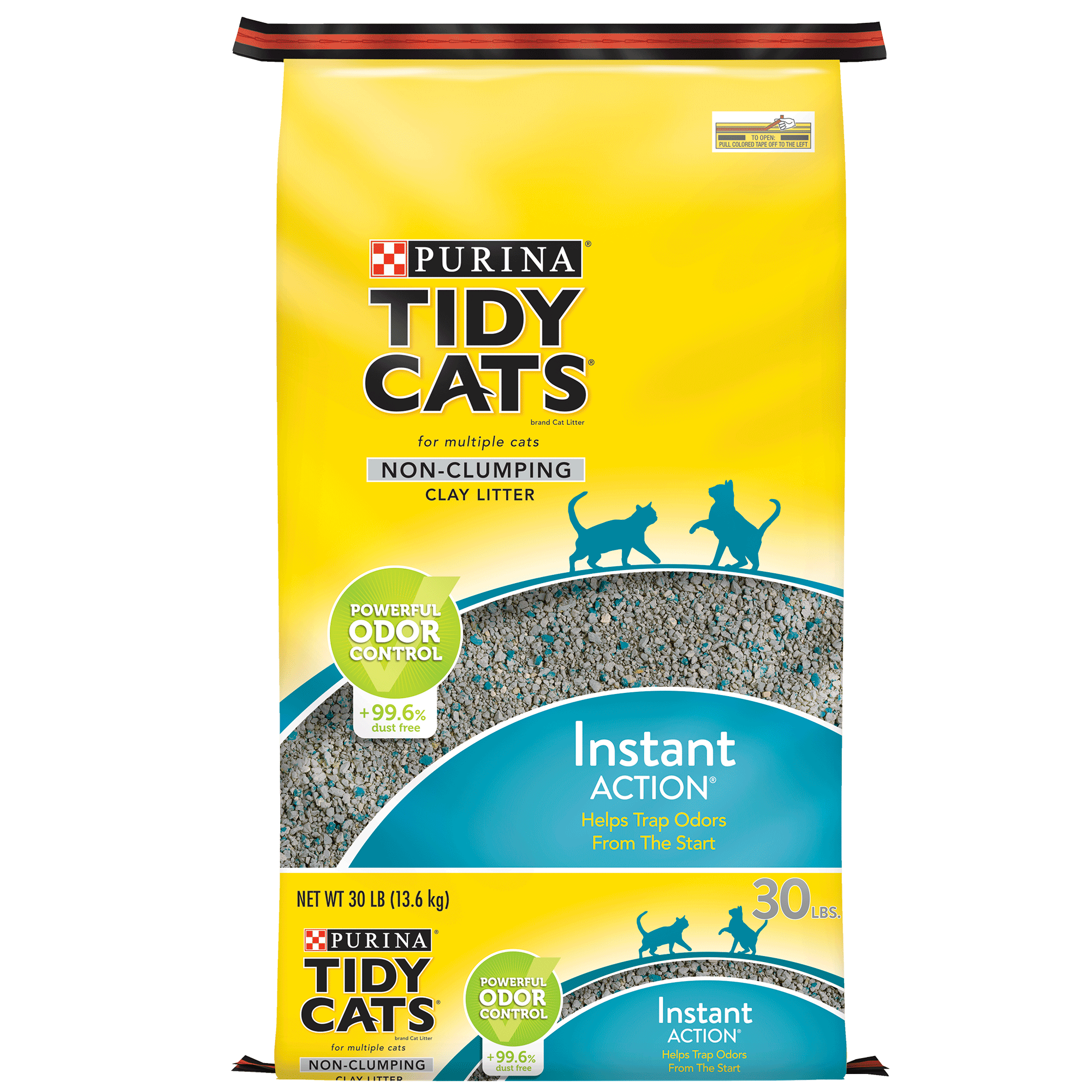Purina Tidy Cats Instant Action for Multiple Cats Non-Clumping Cat Litter - 30 lb. Bag