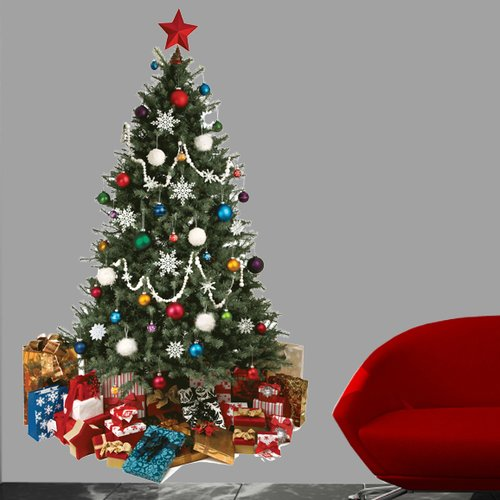 Wallhogs Christmas Tree Cutout Wall Decal