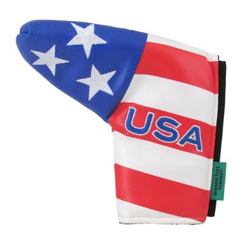 Patriotic USA Golf Headcover Putter - New Winning Edge Designs Head (Golf Putter Cover Winning Edge)
