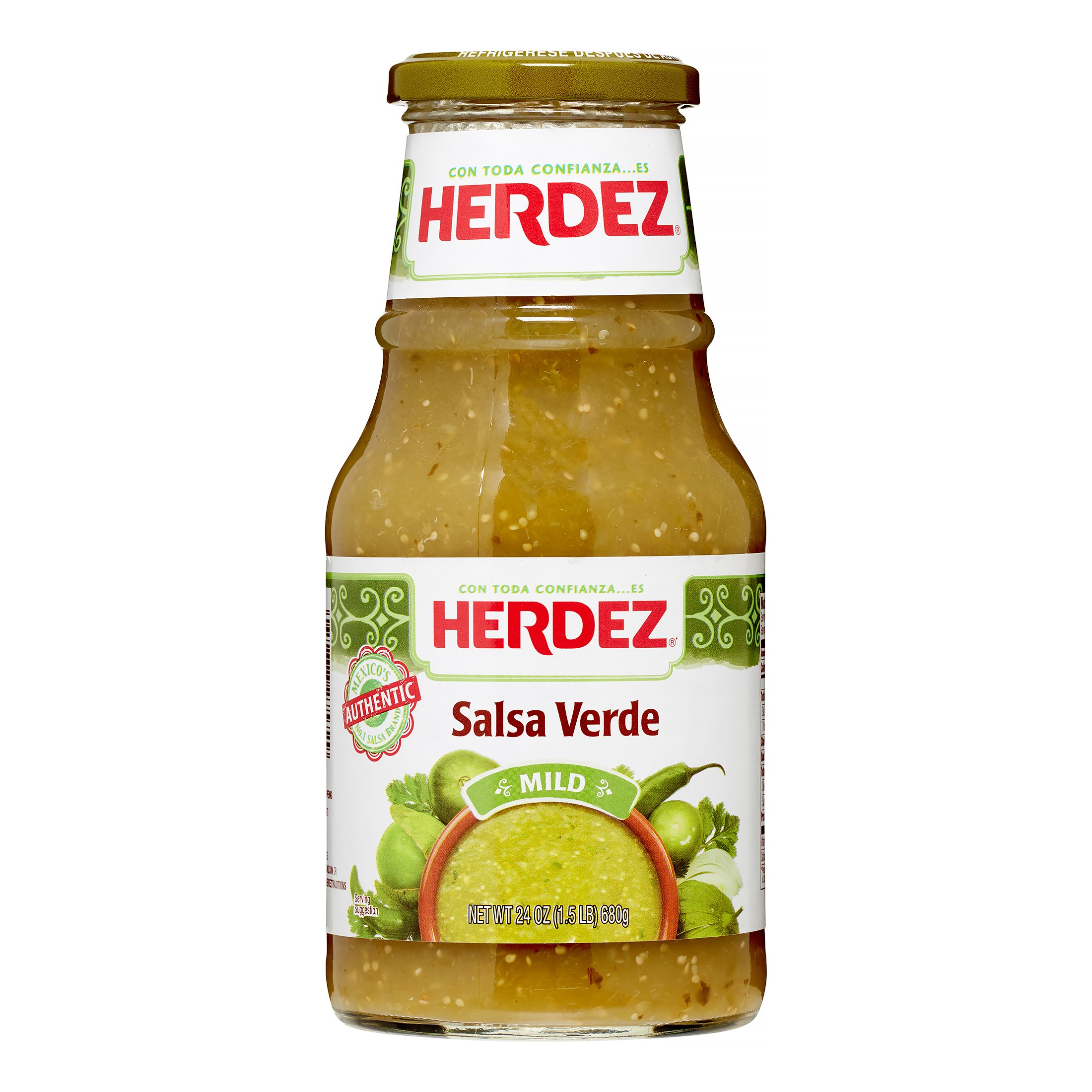 (2 Pack) Herdez Salsa, Verde, 24 Oz