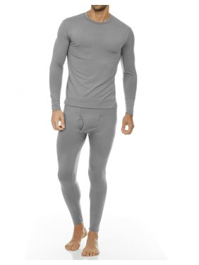 Thermajohn Men's Ultra Soft Thermal Underwear Long Johns Sets with Fleece Lined (Grey, 2XL)
