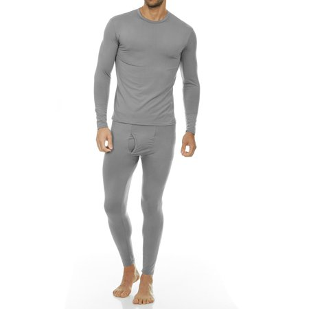 c0e26f996909e Thermajohn - Thermajohn Men's Ultra Soft Thermal Underwear Long Johns Sets  with Fleece Lined (Grey, L) - Walmart.com